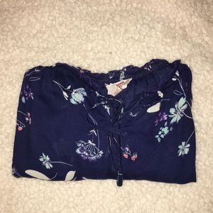 Flowery off the shoulder top